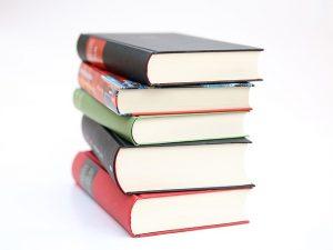 Pile of textbooks